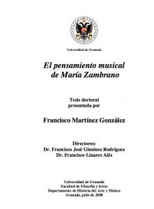 Música y María Zambrano